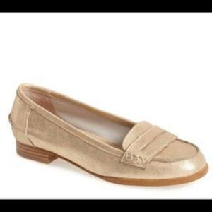 Anthropologie Splendid  Gold Loafer Flats 7.5